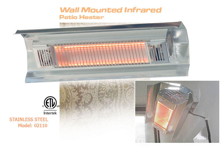 Wall Mounted Infrared FireSense Patio Heater. View Detailed Images (2)