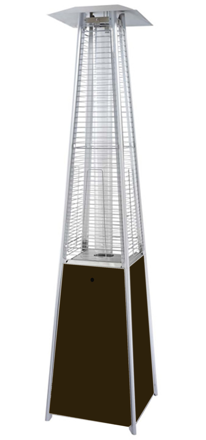 Attirant Glass Tube Pyramid Commercial Bronze Patio Heater