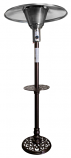 TALL OUTDOOR HAMMERED BRONZE NATURAL GAS CAST ALUMINUM PATIO HEATER