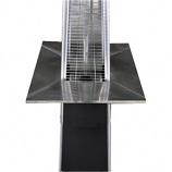 Glass Tube Four Sided Table