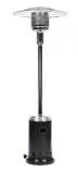 Commercial Fire Sense Hammer Tone Black & Stainless Steel 46,000 BTU Patio Heater LPG