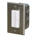 Infratech Duplex Switch - Single/Dual Gang S/S wall Plate IN-WALL NO COVER Single or Double