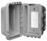Infratech Duplex Switch - Single/Dual Gang IN-WALL With Weather Cover Single or Double