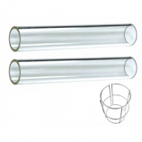 Quartz Glass Tube Replacement (2 Piece) with Support Ring