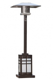 Square Mocha Illuminated Patio Heater