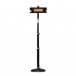 Fire Sense - Black Powder Coated Steel Telescoping Offset Pole Mounted Infrared Patio Heater